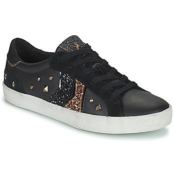 Sapatos Mulher Sapatilhas Geox WARLEY Preto / Ouro