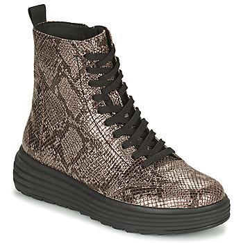 Sapatos Mulher Botas baixas Geox PHAOLAE Castanho