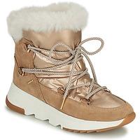 Sapatos Mulher Botas de neve Geox FALENA Bege / Ouro