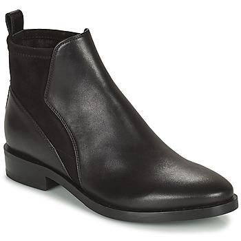 Sapatos Mulher Botas baixas Geox DONNA BROGUE Preto