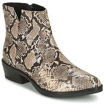 Sapatos Mulher Botas baixas Geox TEOCLEA Bege