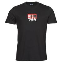 Textil Homem T-Shirt mangas curtas Diesel T-DIEGOS-B10 Preto