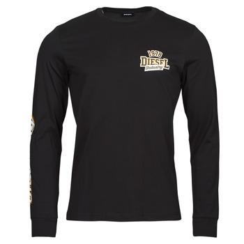 Textil Homem T-shirt mangas compridas Diesel T-DIEGOS-LS-K27 Preto