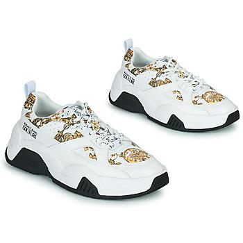 Sapatos Mulher Sapatilhas Versace Jeans Couture FELINA Branco / Estampado / Barroco