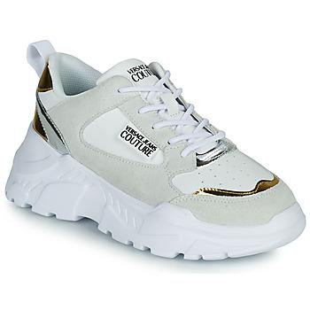 Sapatos Mulher Sapatilhas Versace Jeans Couture FREMMI Branco / Dourado / Prateado