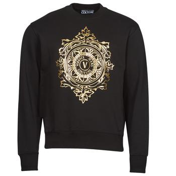 Textil Homem Sweats Versace Jeans Couture VEMBLEM LEAF Preto / Ouro