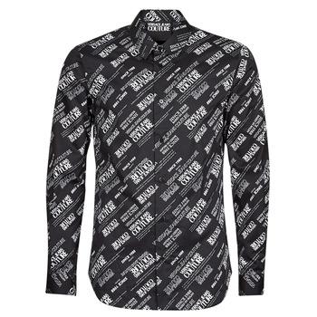 Textil Homem Camisas mangas comprida Versace Jeans Couture SLIM PRINT WARRANTY Preto / Branco