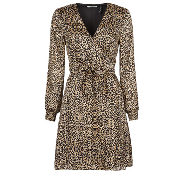 Textil Mulher Vestidos curtos Les Petites Bombes CECILIE Leopardo