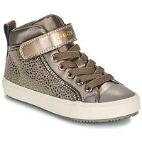 Sapatos Rapariga Sapatilhas de cano-alto Geox KALISPERA Ouro