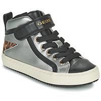 Sapatos Rapariga Sapatilhas de cano-alto Geox KALISPERA Prata