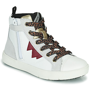Sapatos Rapariga Sapatilhas de cano-alto Geox SILENEX Branco