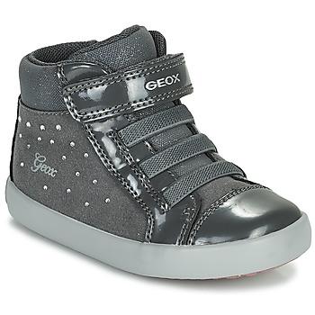 Sapatos Rapariga Sapatilhas de cano-alto Geox GISLI Cinza