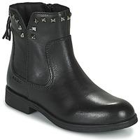 Sapatos Rapariga Botas baixas Geox AGATO Preto