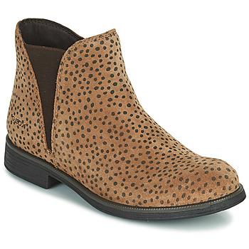 Sapatos Rapariga Botas baixas Geox AGATO Castanho