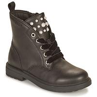 Sapatos Rapariga Botas baixas Geox ECLAIR Preto