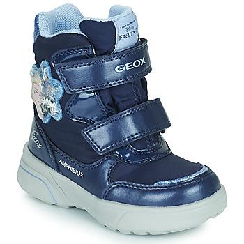 Sapatos Rapariga Botas de neve Geox SVEGGEN ABX Marinho