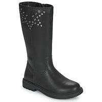 Sapatos Rapariga Botas Geox ECLAIR Preto