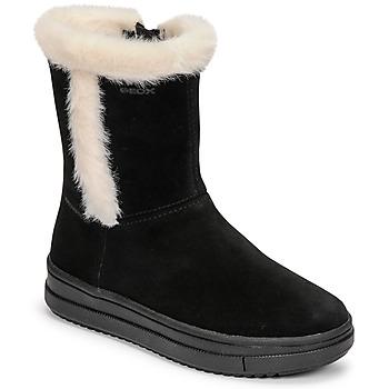Sapatos Rapariga Botas Geox REBECCA Preto / Branco