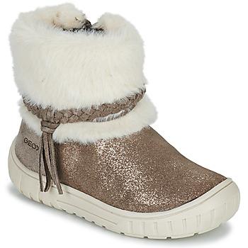 Sapatos Rapariga Botas Geox OMAR Castanho