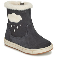 Sapatos Rapariga Botas Geox TROTTOLA Preto