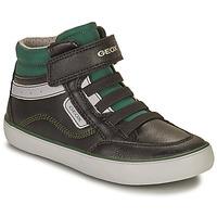 Sapatos Rapaz Sapatilhas de cano-alto Geox GISL Preto / Verde