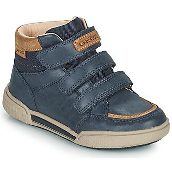 Sapatos Rapaz Sapatilhas de cano-alto Geox POSEIDO Marinho