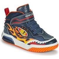 Sapatos Rapaz Sapatilhas de cano-alto Geox INEK Marinho / Vermelho