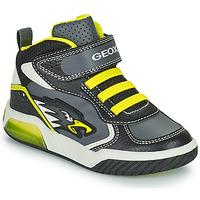 Sapatos Rapaz Sapatilhas de cano-alto Geox INEK Cinza / Verde