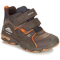 Sapatos Rapaz Botas baixas Geox BULLER ABX Castanho
