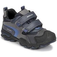 Sapatos Rapaz Botas baixas Geox BULLER ABX Marinho / Cinza