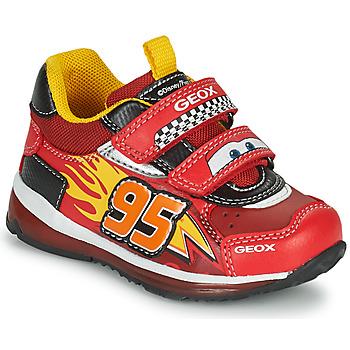 Sapatos Rapaz Sapatilhas Geox TODO Vermelho / Amarelo