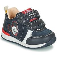 Sapatos Rapaz Sapatilhas Geox RISHO Marinho
