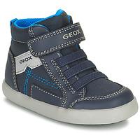 Sapatos Rapaz Sapatilhas de cano-alto Geox GISLI Marinho