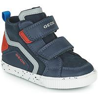 Sapatos Rapaz Sapatilhas de cano-alto Geox KILWI Marinho