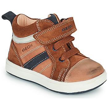 Sapatos Rapaz Sapatilhas de cano-alto Geox BIGLIA Castanho