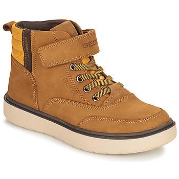Sapatos Rapaz Botas baixas Geox RIDDOCK WPF Camel