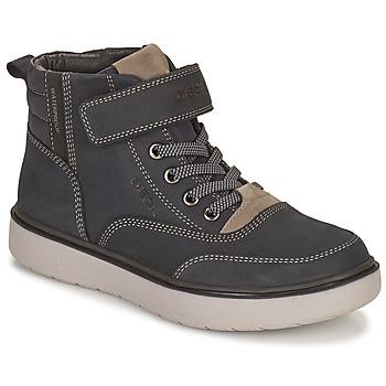 Sapatos Rapaz Botas baixas Geox RIDDOCK WPF Marinho