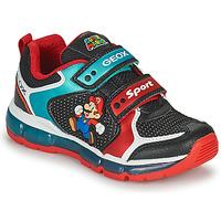 Sapatos Rapaz Sapatilhas Geox ANDROID Preto / Azul / Vermelho