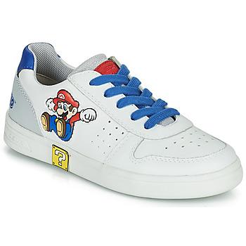 Sapatos Rapaz Sapatilhas Geox DJROCK Branco / Azul