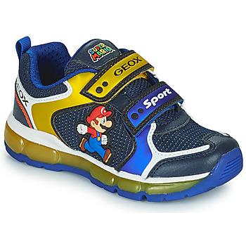 Sapatos Rapaz Sapatilhas Geox ANDROID Azul / Amarelo
