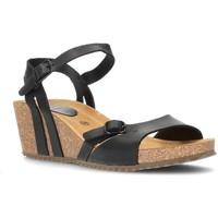 Sapatos Mulher Sandálias Interbios W Sandal mulher anatômica confortável PRETO