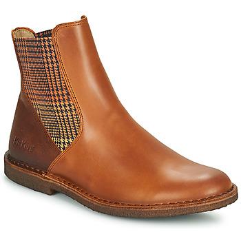 Sapatos Mulher Botas baixas Kickers TINTO Camel