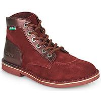 Sapatos Mulher Botas baixas Kickers ORILEGEND Bordô / Escuro
