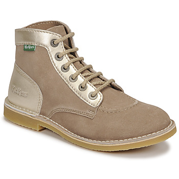 Sapatos Mulher Botas baixas Kickers ORILEGEND Bege