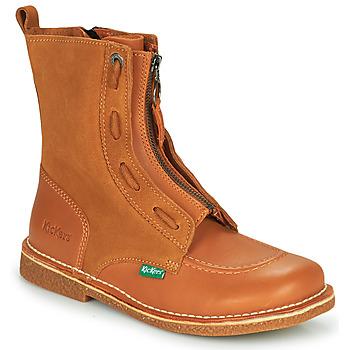 Sapatos Mulher Botas baixas Kickers MEETICKROCK Camel