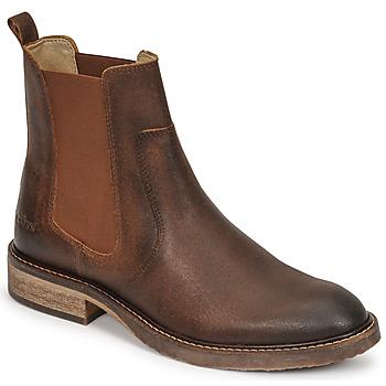 Sapatos Mulher Botas baixas Kickers ALPHASEA Camel