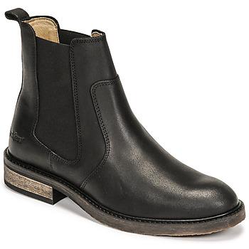 Sapatos Mulher Botas baixas Kickers ALPHASEA Preto