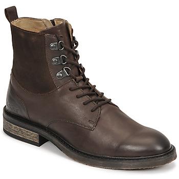 Sapatos Mulher Botas baixas Kickers ALPHAHOOK Castanho