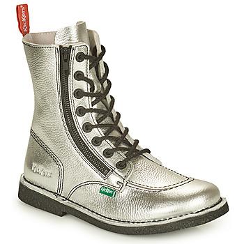 Sapatos Mulher Botas baixas Kickers MEETICKZIP Prateado