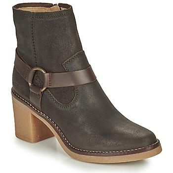 Sapatos Mulher Botas Kickers AVECOOL Castanho